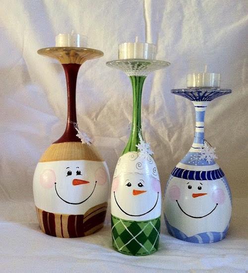 manualidades navideñas con copas