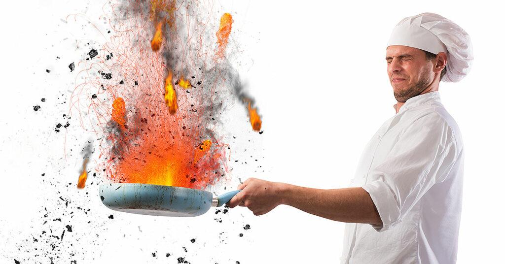 Principales riesgos laborales en cocina