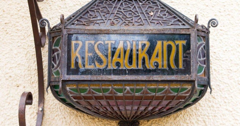 Tipos de cartel restaurantes, bares y cafeterías