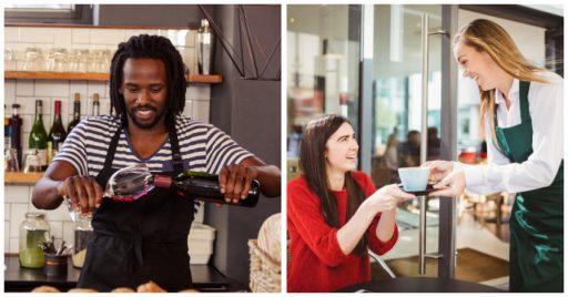 Agua y vino, infaltables en la mesa de las ventas sugestivas