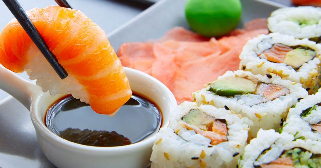 Artículos para comer todos los tipos de sushi