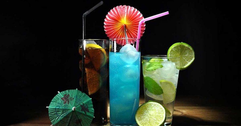 Bebidas sin alcohol ni frutas