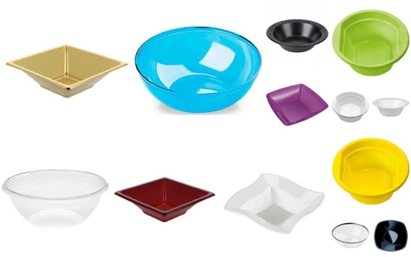 Bols de plástico