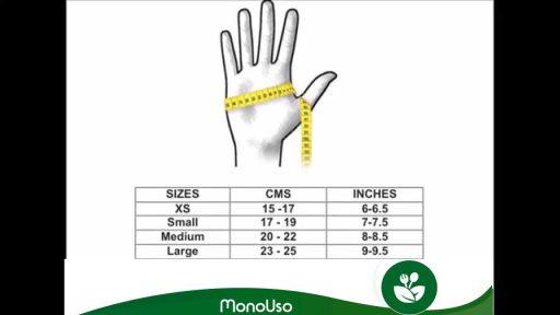 Cómo elegir talla de guantes