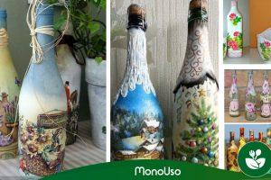 Cómo decorar botellas con servilletas – Recicla y embellece