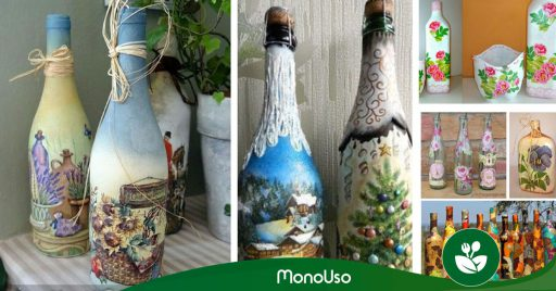 Cómo decorar botellas con servilletas