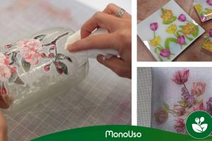 Cómo decorar cristal con servilletas de papel