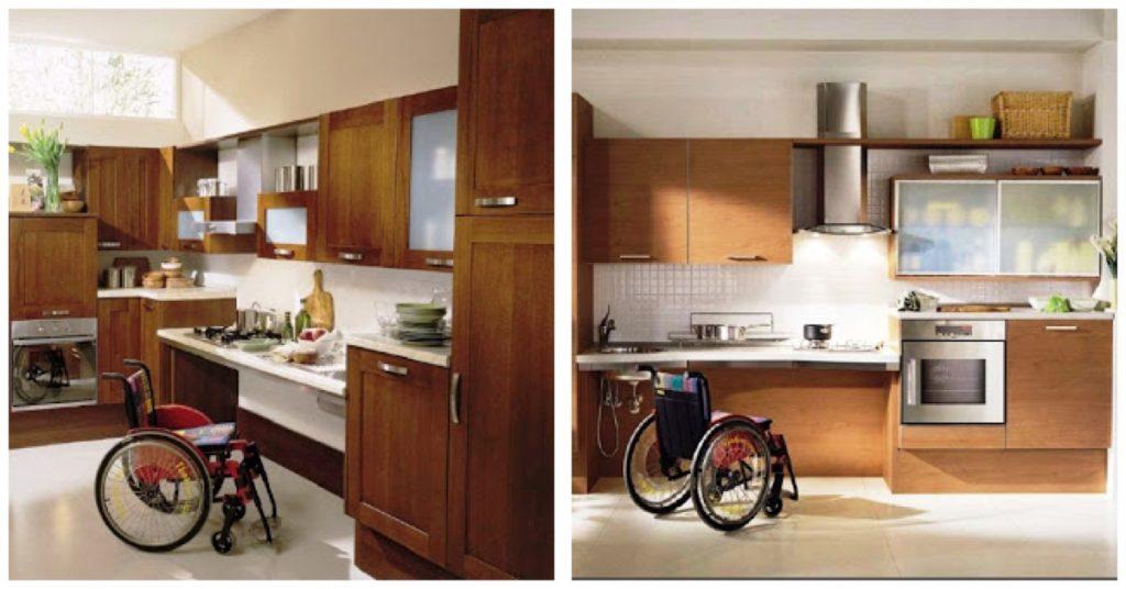 Cómo diseñar cocinas adaptadas para sillas ruedas