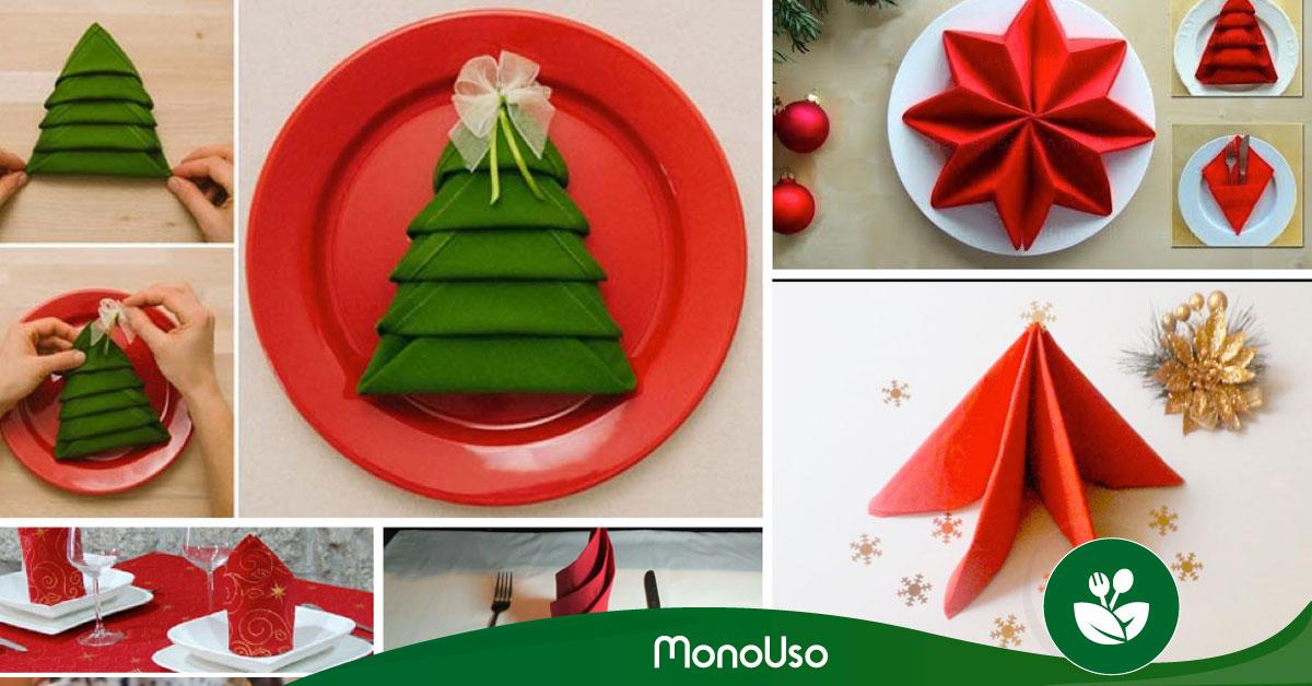 Cómo doblar servilletas de papel para Navidad