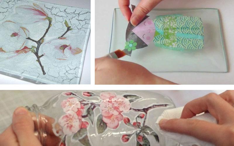 Decorado de cristal con servilletas