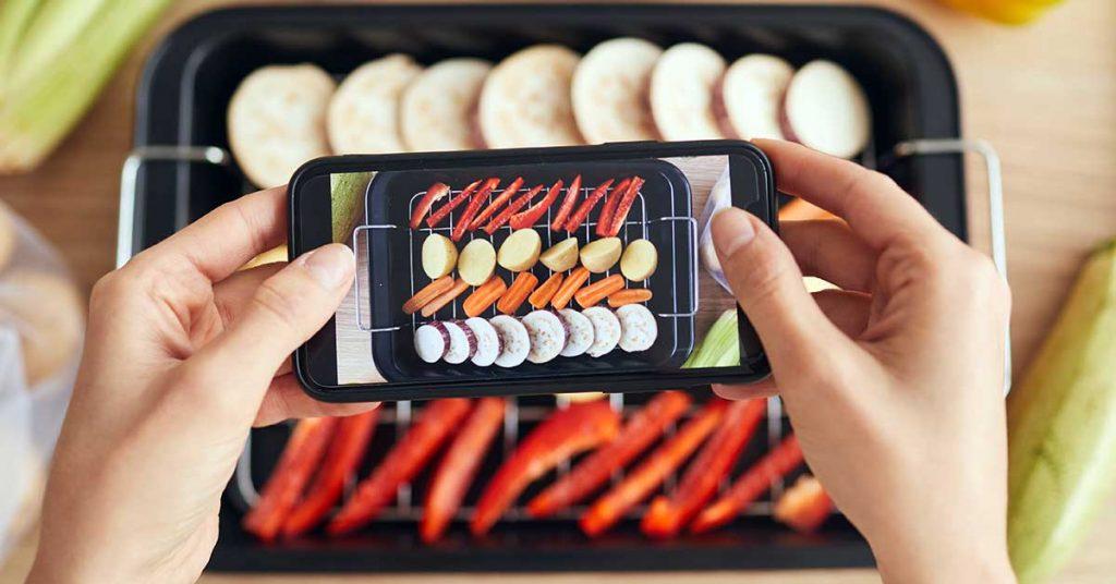 En la fotografía de alimentos la comida es protagonista