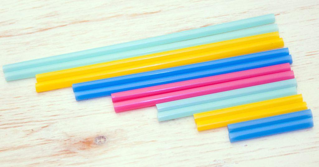 Flauta de pajitas recicladas