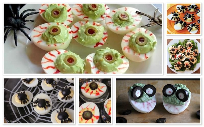 recetas de Halloween para adultos - Huevos monstruosos