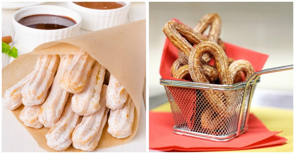 Ingredientes infaltables para comer churros