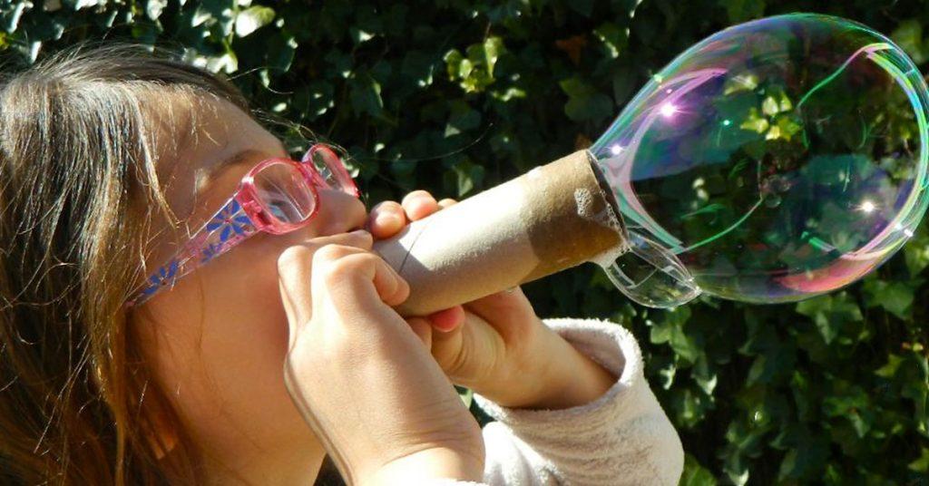 Lanza burbujas ecológico