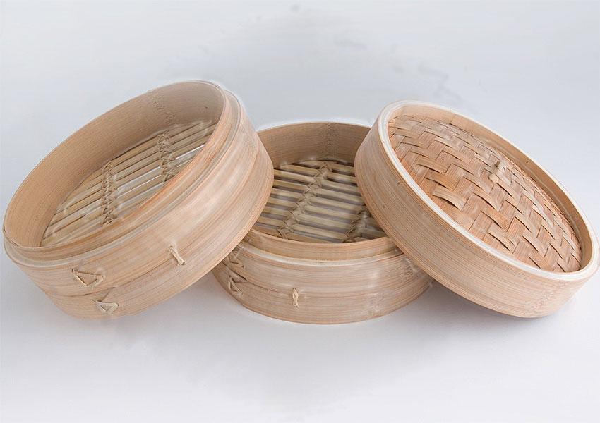 Limpieza de vaporera de bambú