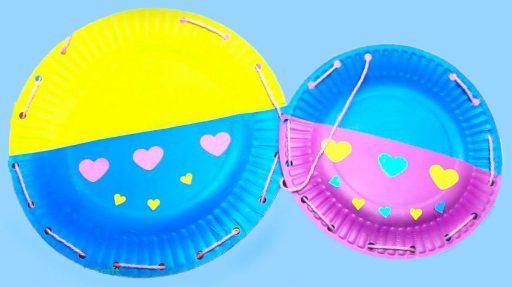 Manualidades con platos plásticos
