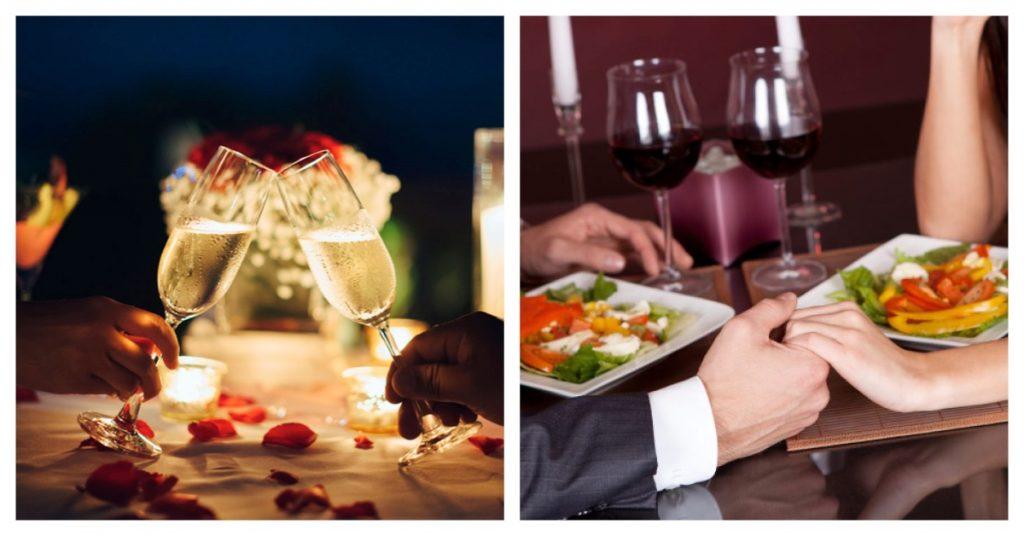 Menú romántico con postre incluido