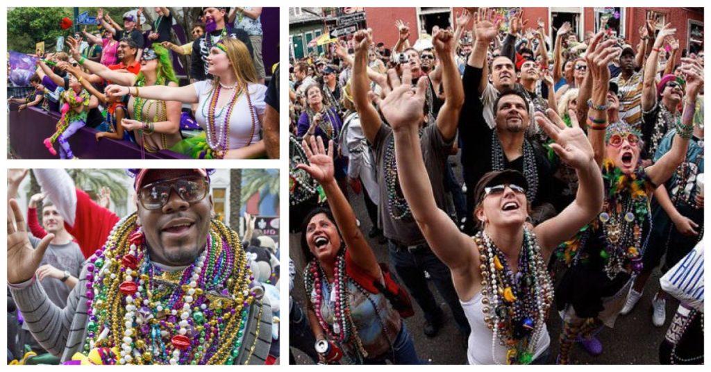 Nueva Orleans y sus carnavales de collares
