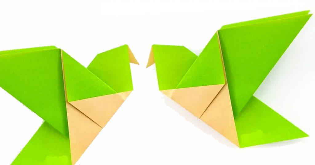 Origami con papel reciclado