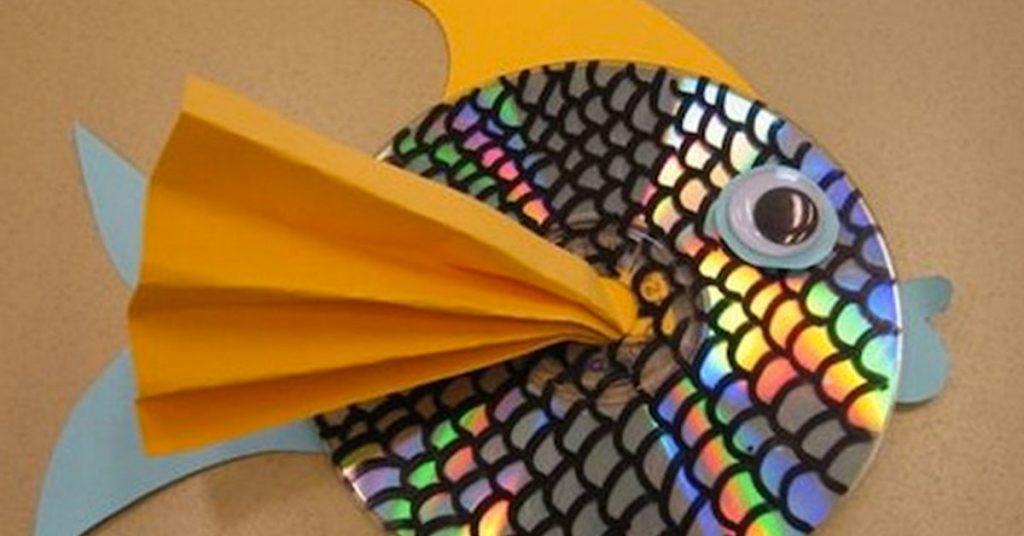 Peces de discos viejos