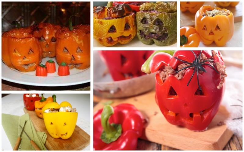 Recetas de Halloween para adultos - Pimientos del terror