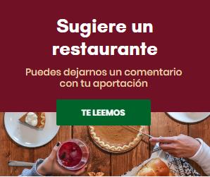 Sugiere un restaurante