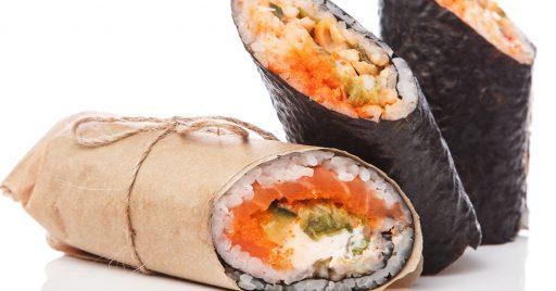 Clases de sushi emergentes: los sushirritos
