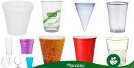 Tipos de vasos de plástico desechables
