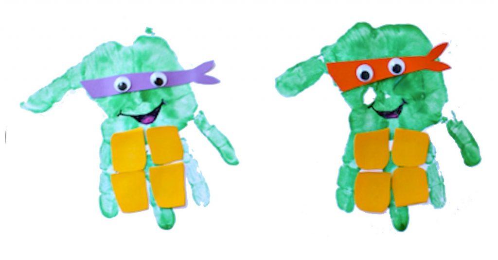 Tortugas ninja con tus manos