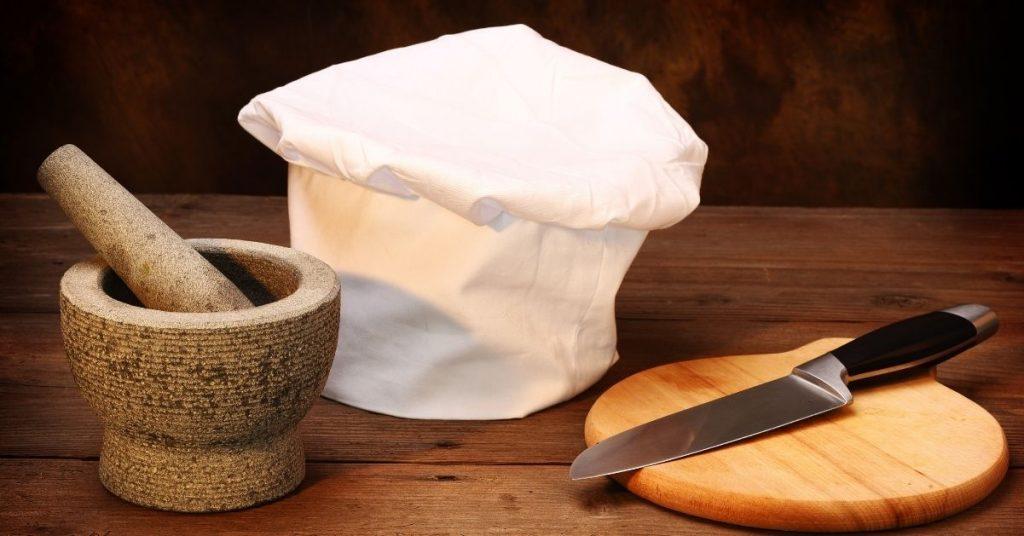 Utensilios básicos para ayudante de cocina