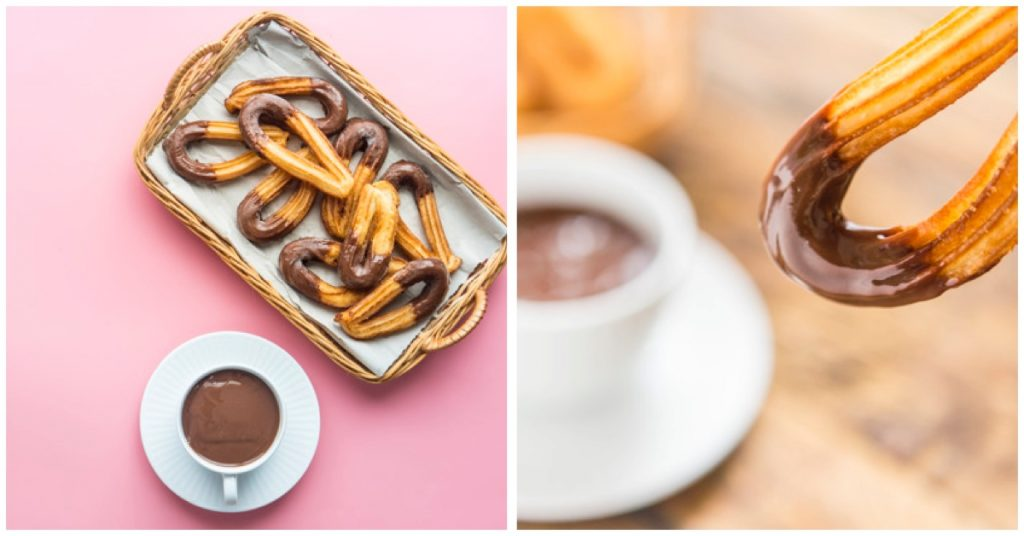 Variantes a los churros con chocolate