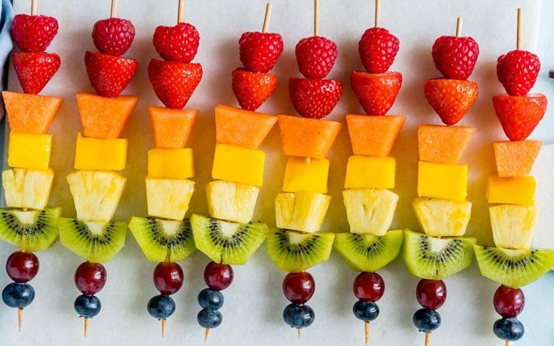 combinación de frutas