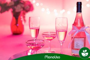 Decoración de copas para San Valentín