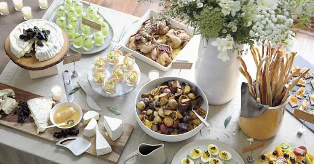 decorar mesa buffet