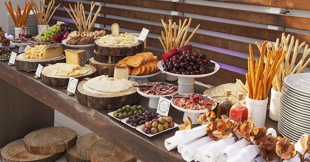 montar mesa buffet