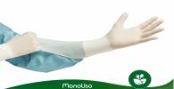 guantes de látex sin talco