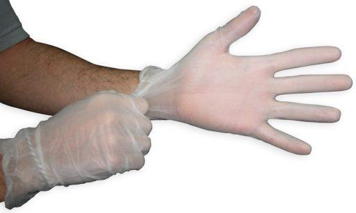 alergia guantes de vinilo