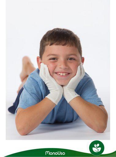 guantes desechables para niños