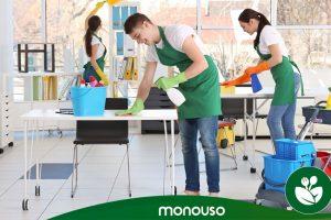 Productos de limpieza para garantizar la higiene en la oficina