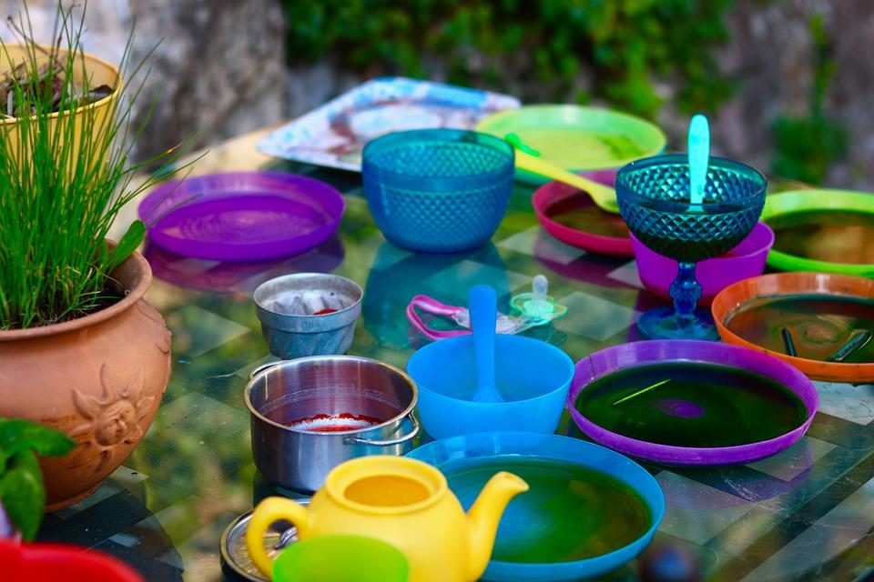pintar platos plásticos estilo