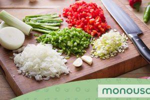 Los tipos de cortes más usados en cocinas profesionales